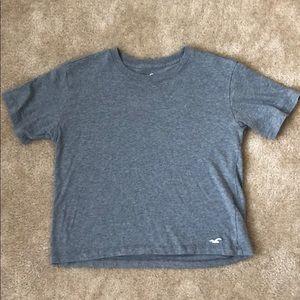 Hollister Gray Crop Tee Shirt